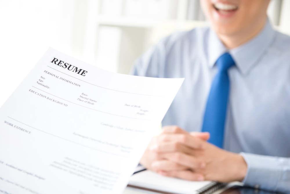 job interview using resume