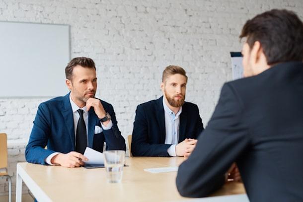 Interviewer asking questions